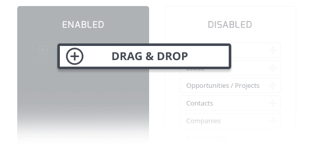 Drag & Drop Configuration