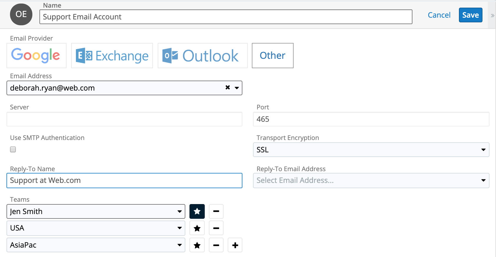 SugarCRM 9 Group Email Support