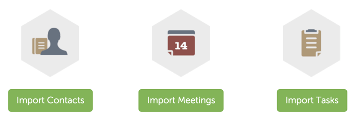 Import Contacts & Meetings