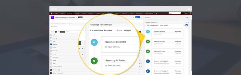 Electronic Signing Integrated with Salesforce & SugarCRM